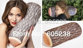 5pieces Green Log Pillow Wood Grain and Wood Throw Pillows