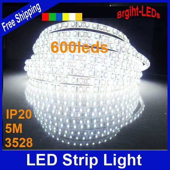 De haute qualité smd3528 120leds/m 5m dc12v non- imperméable à l'eau bande flexible led ruban ménages nouveauté guirlande lumineuse
