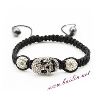 Free shipping 2013 skull shamballa bracelets retail siliver color get in a week!!