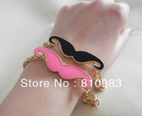 2013 jewelry lovely mustache bracelet jewelry free shipping