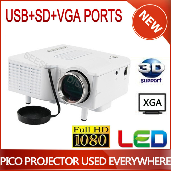 High Quality Mini LED Digital Projector With VGA A/V USB & SD Ports,Including Remote Control Video Cable Free Shipping!(China (Mainland))