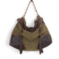 designer high quality women's shoulder bag fashion vintage, crazy horse leather canvas bag,Blue/Coffee/Green