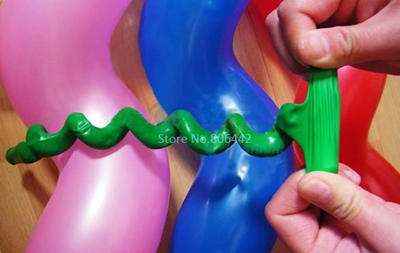 50Pcs/Lot Screwed Spiral Shape Latex Balloon,Party & Holiday Decoration Ballons,Colorful Free Shipping Dropshipping  8490