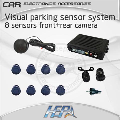 HEPA car lada radar parktronic parking park Visual video system with 8 sensors front rear camera auto sensores de aparcamiento(China (Mainland))