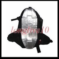 Cool Alum Armor Motorcycle Backpack Bag Silver Back Spine Protector Brand 1 Size free shipping