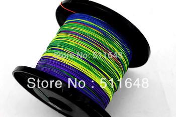 Free Shipping 500M/PCS Multicolor PE Braid Fishing Lines 35 40 45 50 60 70 80 90LB