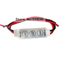 HongKong post12V Mini 3 Keys Single Color LED Controller Brightness Dimmer for led 3528 5050 strip light  Single ColourDimmer