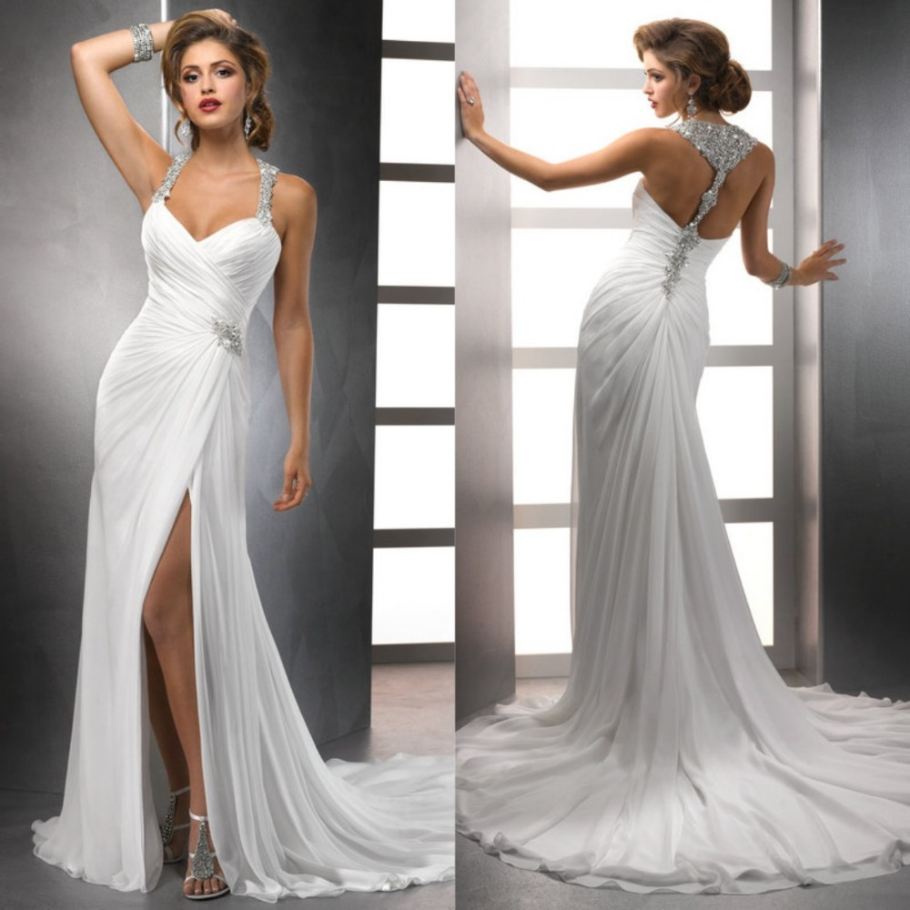 Formal and informal beach wedding dresses for Best wedding dresses for beach weddings