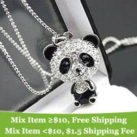 gifts  Fashion Korea cute panda necklace Wholesale !