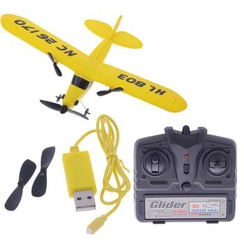 HL803 gull 2CH RC IR airplane Gyro super glider EPP J3 CUB Air Sailer 16123