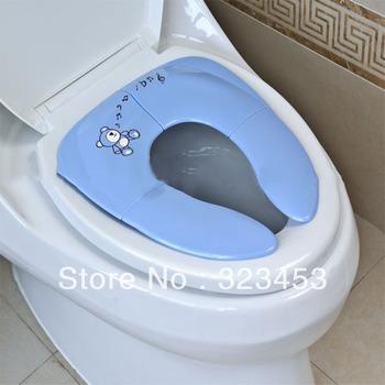 2 PCS /Lot Folding Baby Kids potty seat - Baby seat urinal Toddler Potties Children toliet trainer seats L018 Free Shipping