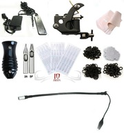 Free shipping 1 new Tattoo Machine Equipment Set Starter Kit 1 Guns Supply Body Art