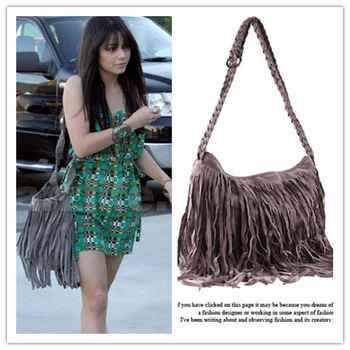 Celebrity Fringe Tassel Shoulder Messenger Bag 27