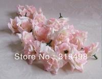 100pcs/lot Artificial Simulation Silk Blossom Camellia Rose Flower Head Wedding 4.5cm Diy Brooch Headwear Ring 6 Colors