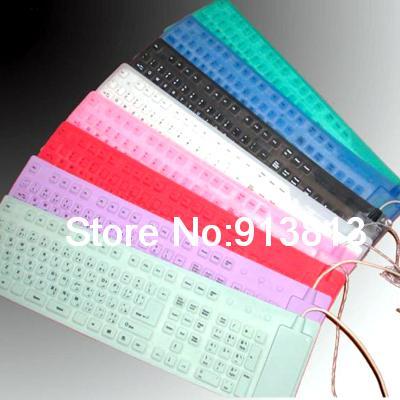 109 Key Waterproof Washable USB Flexible Silicone Keyboard Compatible For Computer(China (Mainland))