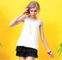 free shipping whole sales ladies sleeveless chiffon blouse shirt women blouse shirts