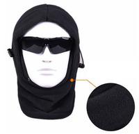 6 in 1 Thermal Fleece Balaclava Hat Hood Police Swat Ski Bike Wind Stopper Face Mask