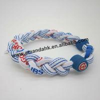 100pcs/lot fashion rope bracelet,free shipping custom M-lb/N-caa/N-ba/N-fl sport bracelet