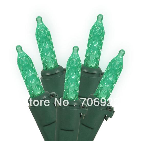 Holiday Sale Free Shipping 45 PCS UL 110V 3M 70L Green M5 LED Curtain Icicle Lights(China (Mainland))