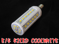 E14 5630 12W 42 led 1260lm 220V AC cool white warm white corn led bulb lamp A927