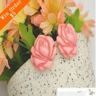 2015 New Fashion Hot-Selling &Korean Lovely Large Rose Flower Camellia Peony Flower Earrings 66E674 66E400(China (Mainland))