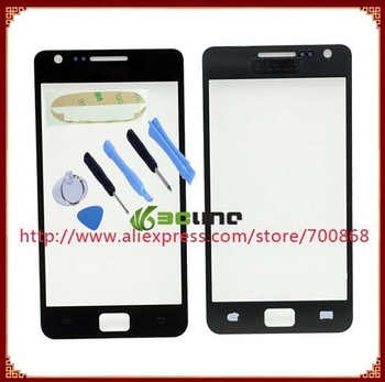 100% original Guarantee Outer Screen Lens Glass for Samsung For Galaxy S2 i9100 + Tools and 3M sticker Free shipping
