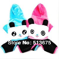 Free Shipping 2014 Wholesale new winter clothes pet clothing dog clothes Cartoon panda four legs Warm Clothes S M L XL Sizes