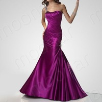 New Women Purple A-line Charming One Shoulder Gowns Evening Party Dress 22/LF083