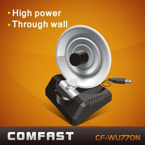 150Mbps wireless usb high power adapter Radar multifunction comfast CF-WU770N high gain usb wifi antenna free shipping(China (Mainland))