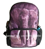 New 17inch elephant printing school backpack bag BBP107