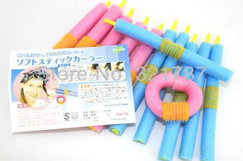 DIY Soft Foam Bendy Hair Roller Cute And Beauty Magic Hair Curler Hair Styling Tools 12pcs/set Free Shipping