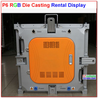 P6 rental super thin die casting aluminum led display,576mm * 576mm, 96*96 pixel,10kg,color and logo customized,easy install