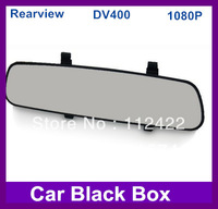 Car black box Super slim dashboard video recorder 2.7TFT LCD Car HD DVR The rearview mirror vehicle traveling data recorder