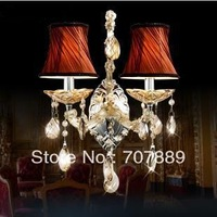 Free shipping! Modern Luxurious wall lamps,Mirror front lamp Fabric wall light for bedroom bedside WL034,also for wholesale