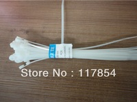 Free shipping (500pcs/bag) 2.5mm*200mm Self-locking Nylon cable wire ties zip ( White )
