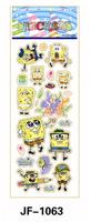 20 Sheets Combo Deal,  Free shipping  TY0002 SpongeBob SquarePants Sticker, Girl Boy Popular Cartoon Kids Stickers Wholesale