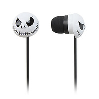 Free Shipping Scary Style In-Ear Earphones (White)