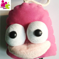 2013 New Arrival Han edition manual cartoon key bag cloth art suction belt for the pull down key bag cute plush toys