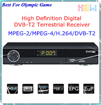 Free Shipping 2013 Original H.264 1080P DVB-T2 Tuner TV Box Support Multiple PLP Compatible HDMI DVB T2 DVB-T MPEG-2 MPEG-4 STB
