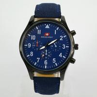 HOT sale Luxury Analog new fashion TRENDY SPORT MILITARY STYLE WRIST WATCH for MEN SWISS ARMY quartz watch,BLACK/blue  color F&T