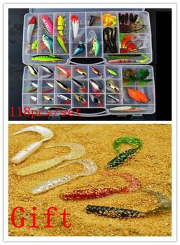 2013 New ! Promotion ! Hot sale ! 118 pcs Fishing Lure set /Hard  /Soft  /Paillette Lure/Metal Lure /bait set .Free Shipping