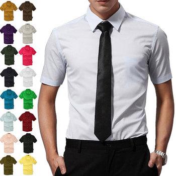 2014 Summer 16 colors! men's casual shirts, short sleeve shirt, candy color dress shirt Boutique all-match Mens Asia S-XXXL C182