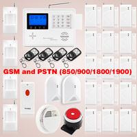 DHL EMS Free shipping!Whole sale GSM Wireless Home Burglar Alarm Security System Smoke Sensor Voice PIR+smoke sensor smart home
