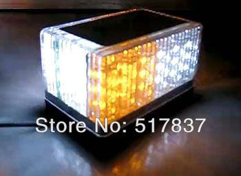 48 LED Car Truck Roof Tow Mini Strobe Flash Emergency Lightbar Amber White