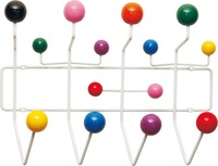 Free shipping, 1 piece colorful wooden balls clothes hanger, coat rack, Eames Hang It All.