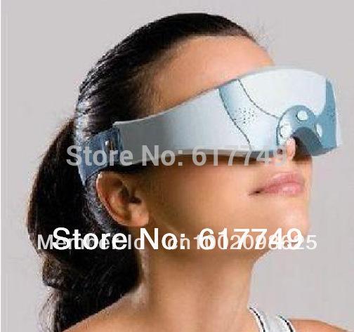 Nuevo 2014 precio más barato gafas la migraña dc eléctrico de cuidado de la frente de los ojos masajeador/masajeador de ojos cuidado de envío gratis