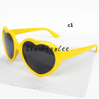 Hot sale kids sunglasses colorful sunglasses children heart shape sunglasses mixed colors 20pcs/lot