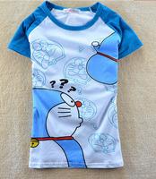 2014 Hot Sale Mouse Cartoon Cute Cotton Short Sleeve Women T-shirt 100%cotton Quicker Shipping Hot Printed Lady T Shirts