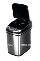 Nine Stars DZT-24-1, Infrared Touchless Trash Can, Stainless Steel Trash Can, 24L
