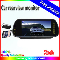 New design and Factory price  for 7inch TFT LCDdigital rearview car mirror wtih MP5 / USB/ SD